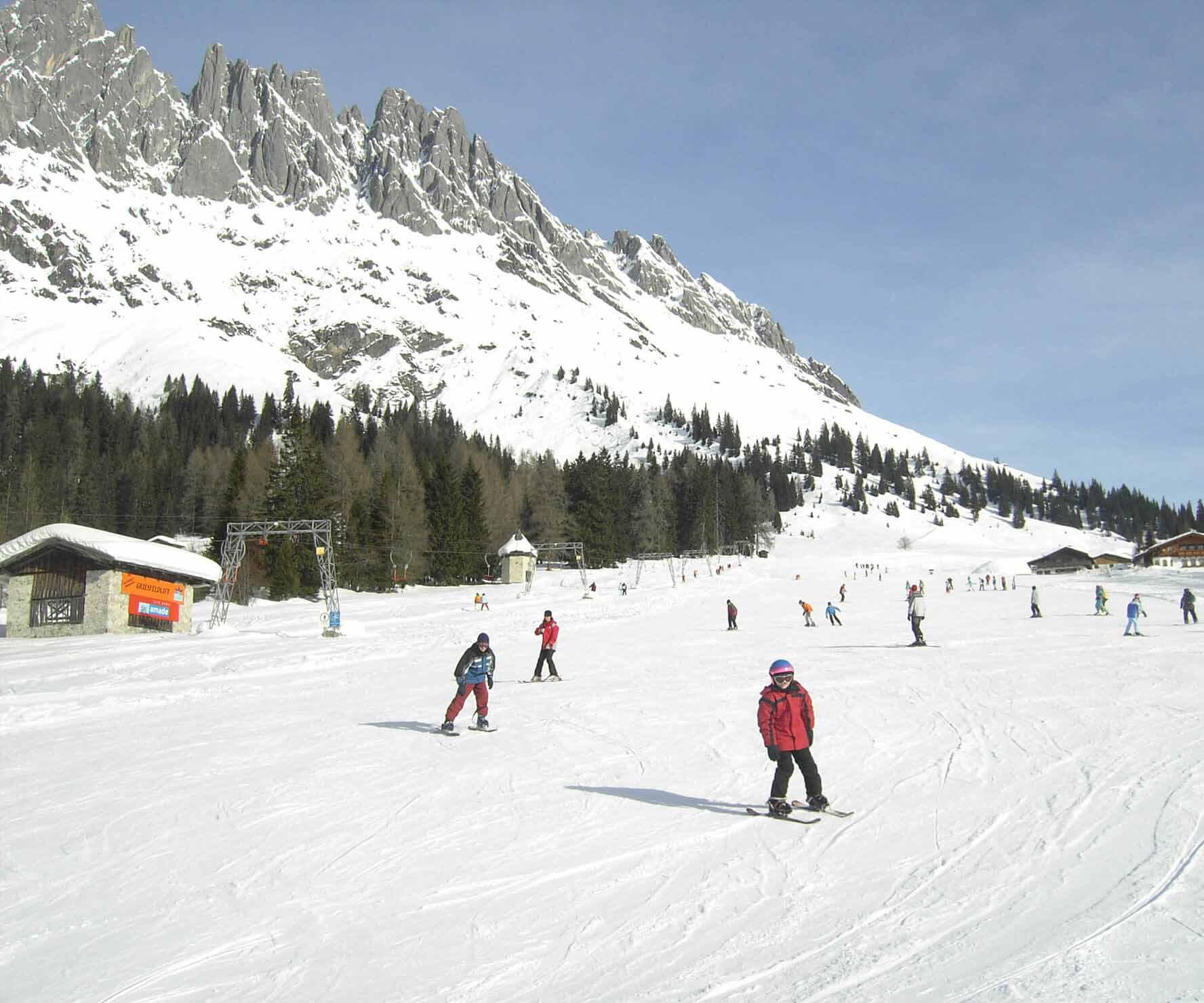 Ferienhäuser Mitterbergalm im Winter