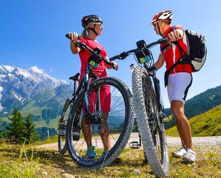 Fahrrad fahren am Hochgipfel